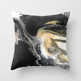 Black Obsession Throw Pillow