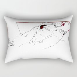 Nudegrafia - 005 fingering Rectangular Pillow