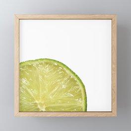 Lime Framed Mini Art Print