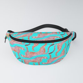 Cheetahs on Turquoise Fanny Pack