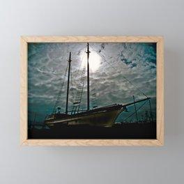 Boat Ship Pirate Fishing Shipyard Ocean Nautical Framed Mini Art Print