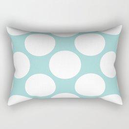 Polka Dots Blue Rectangular Pillow