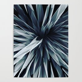 Perspective Facets-Retro Blue Poster