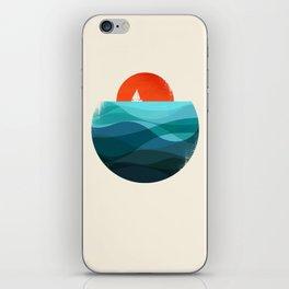 Deep blue ocean iPhone Skin