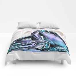 Rainbow Fluorite Crystals Watercolor Comforters