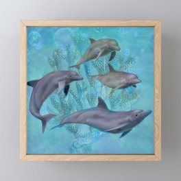 Dolphins Framed Mini Art Print