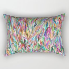 Abstract painting color texture 2 Rectangular Pillow