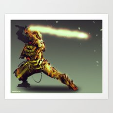 Scorpion Cyber Evolution Art Print