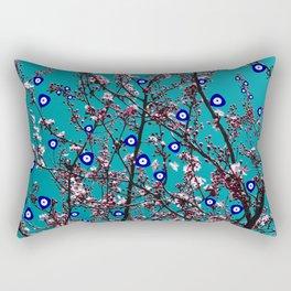 Cherry Blossoms Evil Eyes Rectangular Pillow