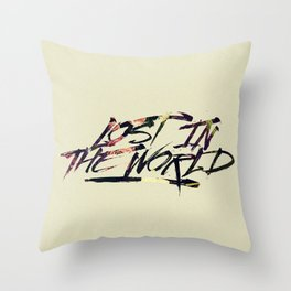 Lost in the world Throw Pillow