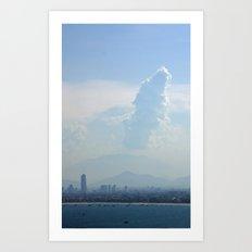 Cloud Tower Art Print
