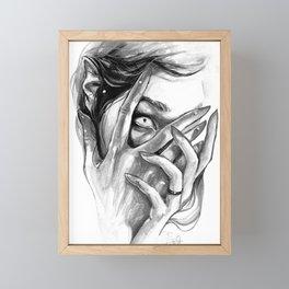 Heather Monochrome Framed Mini Art Print