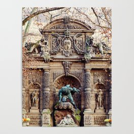Medici Fountain in Autumn Poster