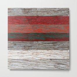 Tree bark wood striped gray red . Metal Print