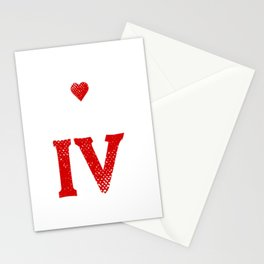 i love hartz IV 4 i love hartz IV 4 unemployed Stationery Cards