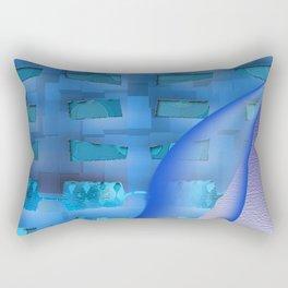 Blue Twisty Rectangular Pillow