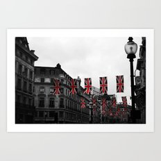 Bunting Over Regent Street Art Print