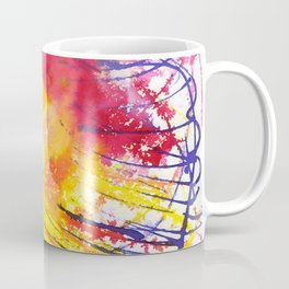 Watercolor background. Abstraction in purple-yellow-pink tones. Coffee Mug