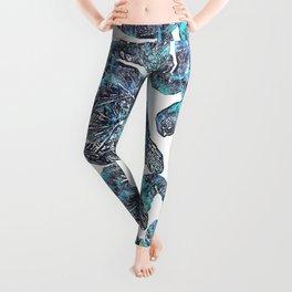 Sea Turtle Blue Watercolor Art Leggings