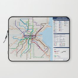 Dublin Frequent Transport Map - Complete Laptop Sleeve