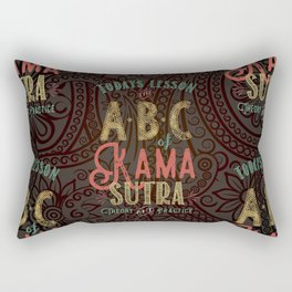 Kama Sutra Lessons Rectangular Pillow