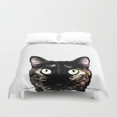 Peeking Cat Duvet Cover