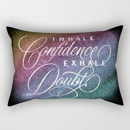 Inhale / Exhale (on black) Rectangular Pillow