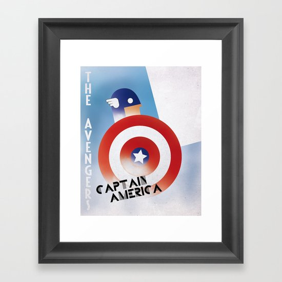 CASSANDRE SPIRIT - Captain America Framed Art Print