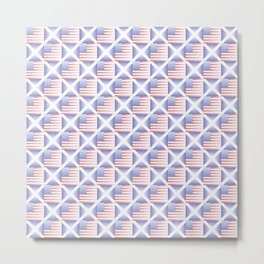 Mix of flag  : usa and scotland 2 with color gradient Metal Print