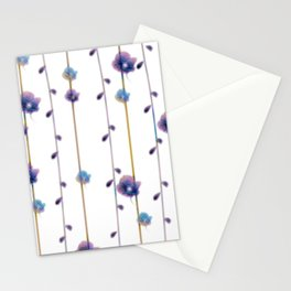 pansies floral minimal pattern Stationery Cards