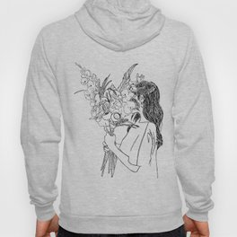 Girl with Flowers Hoody