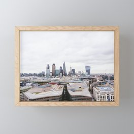 City View of the Financial District of London from St. Paul's Cathedral Framed Mini Art Print