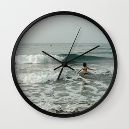 A great holiday in Spanish beach  Wall Clock