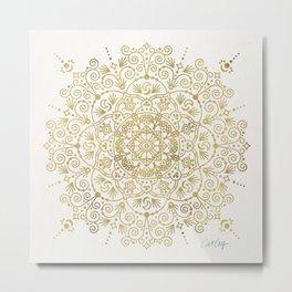 Moroccan Mandala – Gold Palette Metal Print