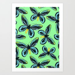 Queen Alexandra' s birdwing butterfly pattern Art Print