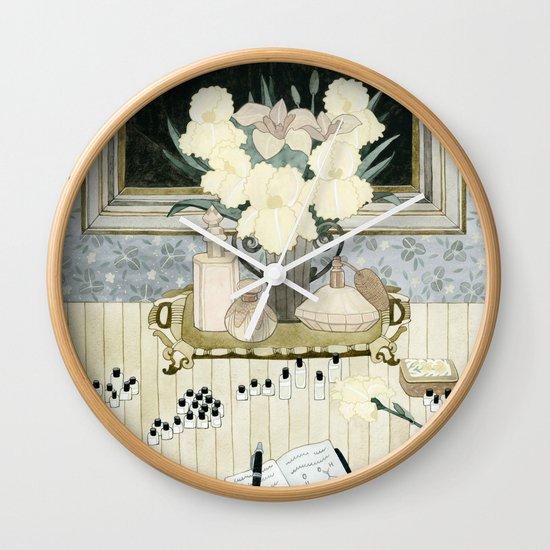 Perfumer at work Wall Clock