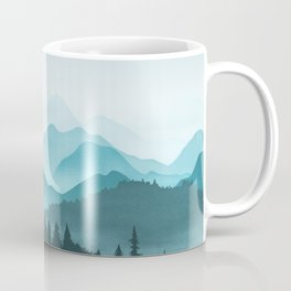 Teal Mountains Coffee Mug