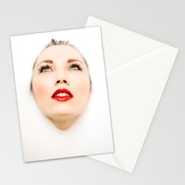 Face In Milk Stationery Cards