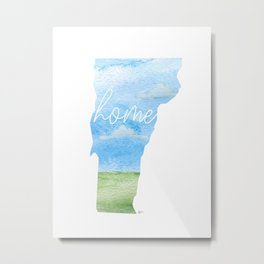 Vermont Home State Metal Print