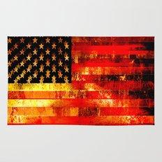 God Blesses the American Flag Rug