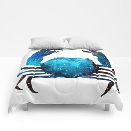 Cerulean blue Crustacean Comforters