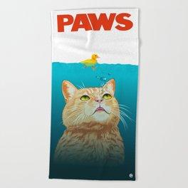 Paws! Beach Towel