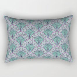 Shell Medallion green and purple layers Rectangular Pillow