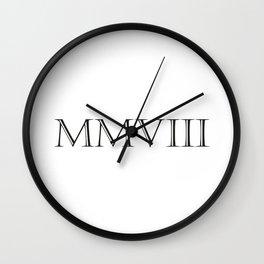 Roman Numerals - 2008 Wall Clock