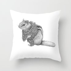 The Chipmunk- Feathered Throw Pillow
