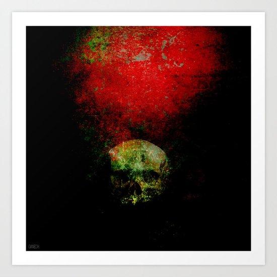 skull in the shadow Art Print