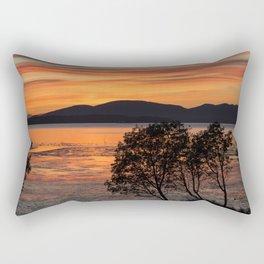 Sunset Over the Flats Rectangular Pillow