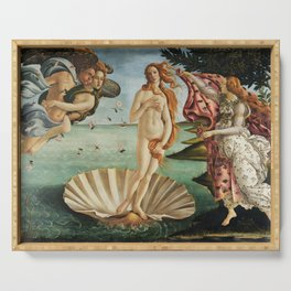 The Birth of Venus by Sandro Botticelli, 1445 Serving Tray