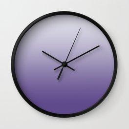 Ombre Ultra Violet Gradient Motif Wall Clock