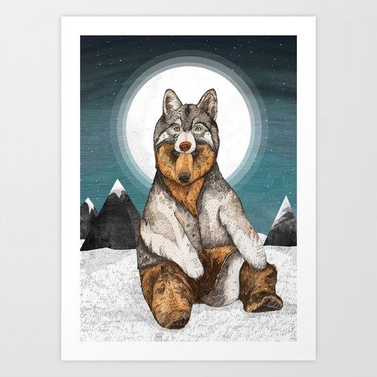 Wear Wolf Art Print